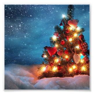 Christmas tree - Christmas decorations -Snowflakes Photo Print