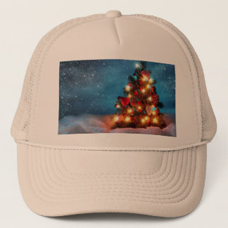 Christmas tree - Christmas decorations -Snowflakes Trucker Hat