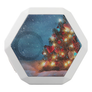 Christmas tree - Christmas decorations -Snowflakes White Bluetooth Speaker