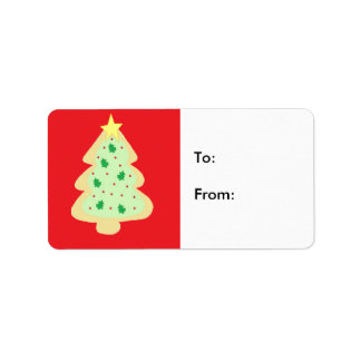 Christmas Tree Cookie Address Label