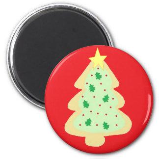 Christmas Tree Cookie 6 Cm Round Magnet