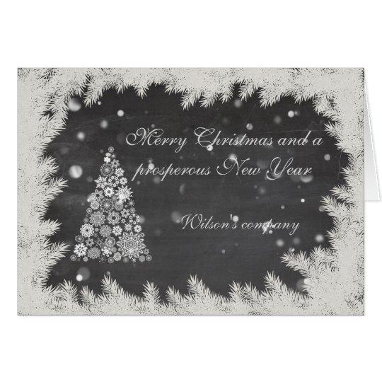 Christmas tree corporate calendar 2018 chalkboard card
