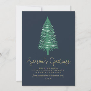 Corporate greetings christmas gifts on zazzle au christmas tree corporate holiday card m4hsunfo