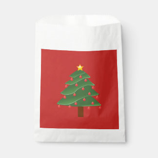 Christmas Tree Custom White Favor BaChristmas Treg Favour Bag