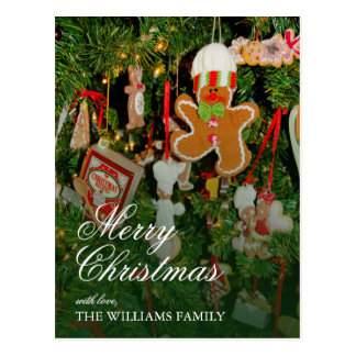 Christmas tree decor - Ornaments, gingerbread man Postcard
