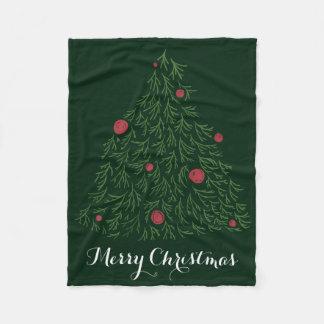 Christmas tree decoration modern Christmas tree Fleece Blanket