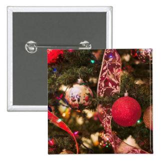 Christmas Tree Decorations Pinback Button