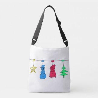 Christmas tree decorations crossbody bag