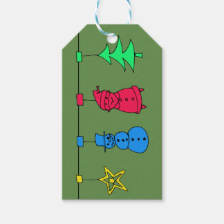 Christmas tree decorations gift tags