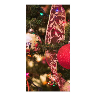 Christmas Tree Decorations Customized Photo Card