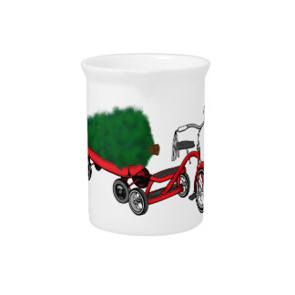christmas tree delivery pitcher