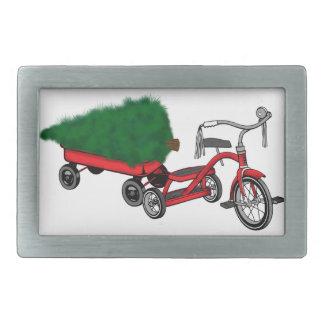 christmas tree delivery rectangular belt buckles