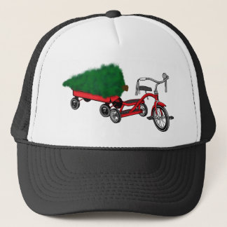 christmas tree delivery trucker hat