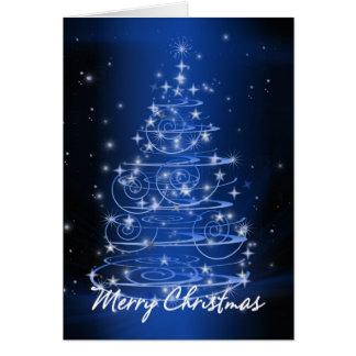 Christmas tree design stars and swirls card
