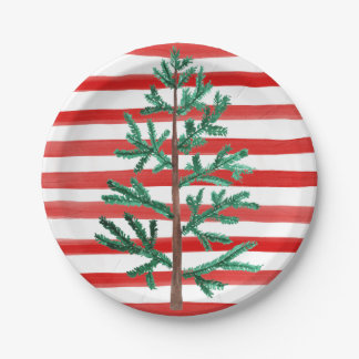 Christmas Tree Disposable Plates