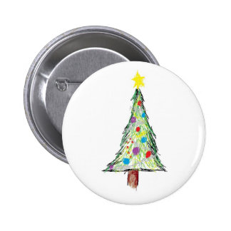 Christmas tree doodle pins