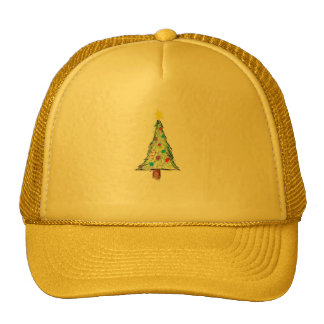 Christmas tree doodle mesh hat