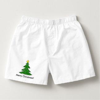Christmas Tree Doodle. Merry Christmas! Boxers