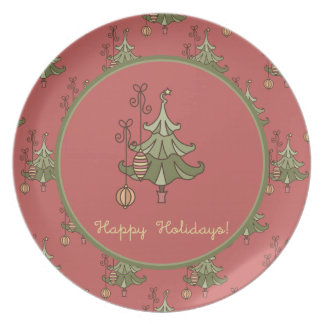 Christmas Tree Doodle Plate