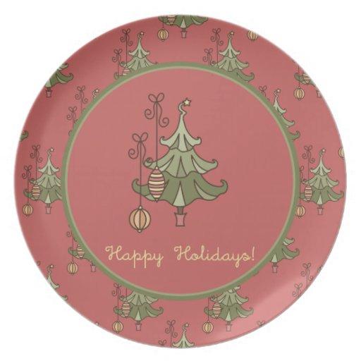 Christmas Tree Doodle Plate