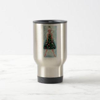 Christmas Tree Dress Stainless Steel Travel Mug