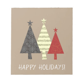 Christmas Tree Elegant Stylish Pattern Minimal Notepad