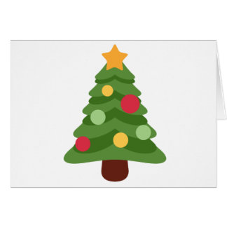 christmas tree emojis card