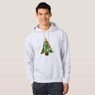 christmas tree emojis mens hooded hoody sweatshirt