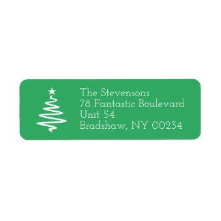 Christmas Tree Family Holiday Return Address Return Address Label