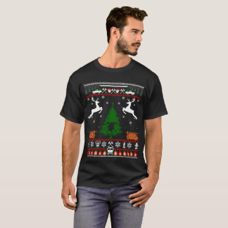 Christmas Tree Fire Fighter Horse Tshirt