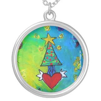 Christmas Tree Flying Heart Custom Jewelry