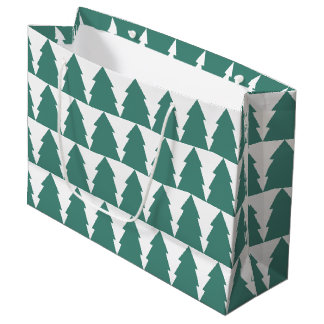 Christmas Tree Forest Large Gift Bag