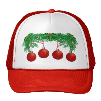 Christmas Tree Garland with 2014 Ornaments Hat