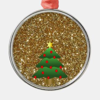 Christmas Tree gold Glitter Christmas Tree Ornaments