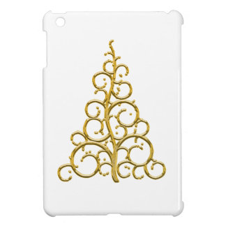 Christmas tree golden decoration case for the iPad mini