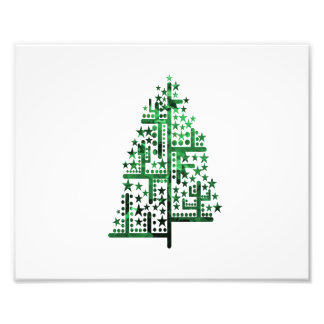 Christmas tree green of shapes mottled photo