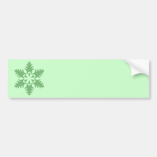 Christmas Tree Green Snowflake Bumper Sticker