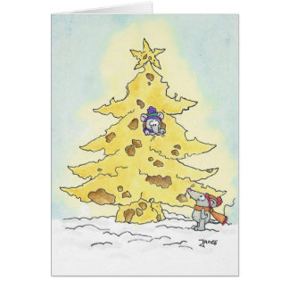 CHRISTMAS TREE greeting card by Nicole Janes