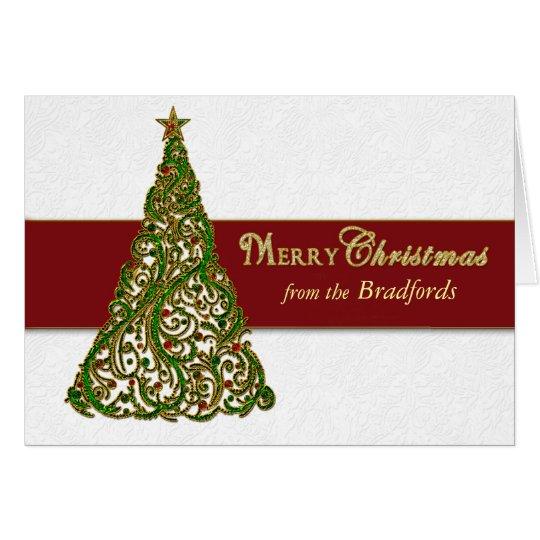 Christmas Tree Greeting -  Tree inside/Personalise Card