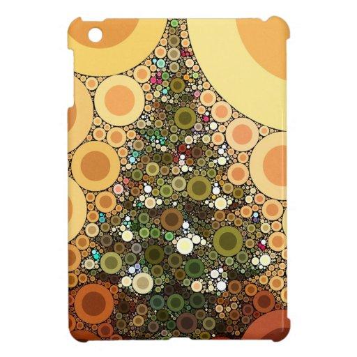 Christmas Tree Happy Holidays Circle Mosaic Case For The iPad Mini