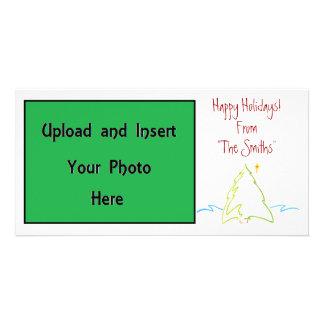 Christmas Tree Happy Holidays Photo Card