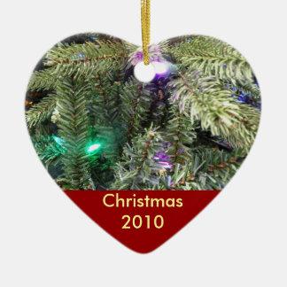 Christmas Tree Heart Photo Ornament