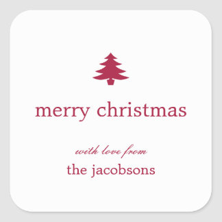 Christmas Tree Holiday Gift Stickers