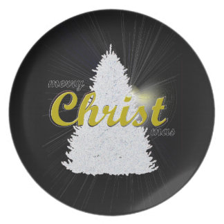 CHRISTmas tree holiday keepsake plate