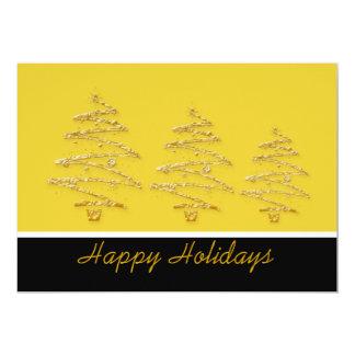 Christmas tree holiday party elegant 5x7 paper invitation card