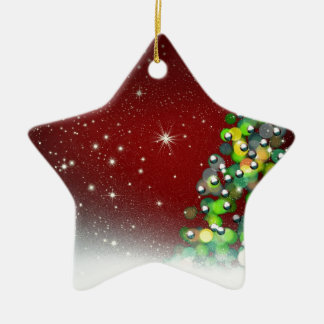 Christmas Tree Holiday Peace Love Destiny Ceramic Ornament