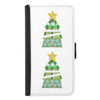 Christmas Tree Hotel Samsung Galaxy S5 Wallet Case