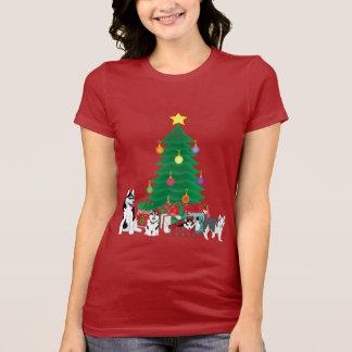 Christmas Tree Huskies Shirt