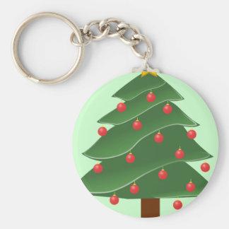 Christmas Tree Illustration Keychains
