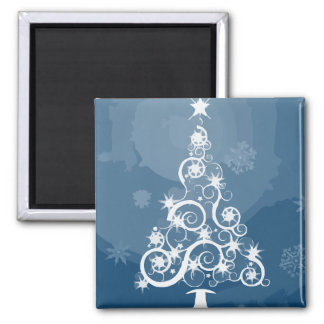Christmas tree illustration refrigerator magnet